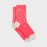 Paul Smith Women's Pink Musical Notes Socks