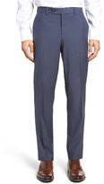 Ted Baker Men's Flat Front Check Wool Trousers