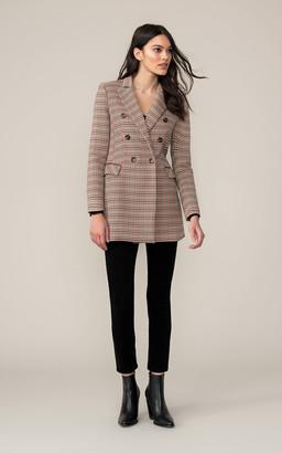 Soia & Kyo FABRIANA mid-length houndstooth coat