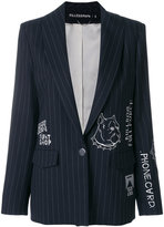 Filles a papa embroidered pinstriped blazer