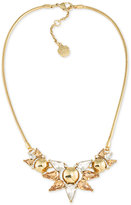 Trina Turk Gold-Tone Multi-Crystal Statement Necklace