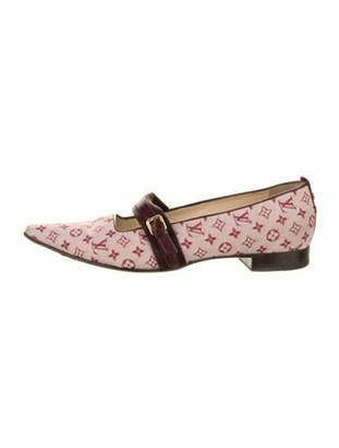 Louis Vuitton Monogram Pattern Mary Jane Flats Pink