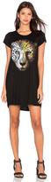 Lauren Moshi Lana Color Star Leopard Shirt Dress