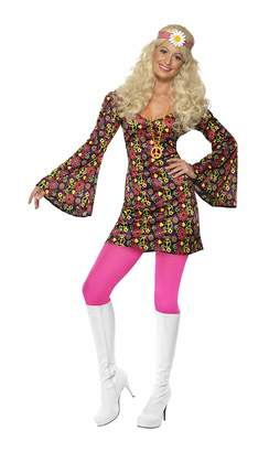 CND Smiffys Women's 1960S Costume Dress with Bell Sleeves