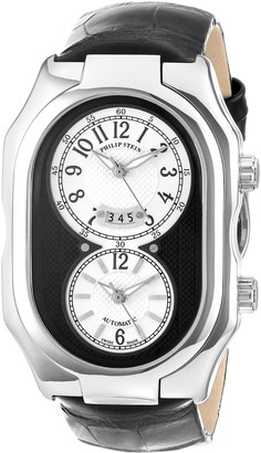 Philip Stein Teslar Unisex Watch 12A-BW-ABAnalogueAutomaticWhite DialBlack Leather Strap