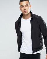 Armani Jeans Nylon Bomber Jacket In Black
