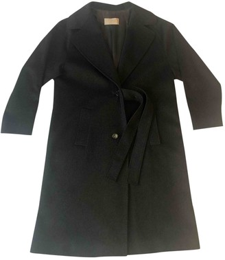Valentino Anthracite Wool Coat for Women Vintage