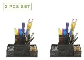 Mind Reader 2 Piece Pencil Cup Organizer