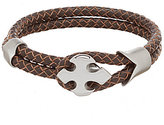 Murano Braided Double Cord Leather Bracelet