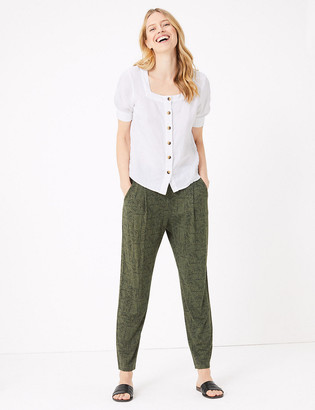 Marks and Spencer Jersey Tapered Ankle Grazer Trousers