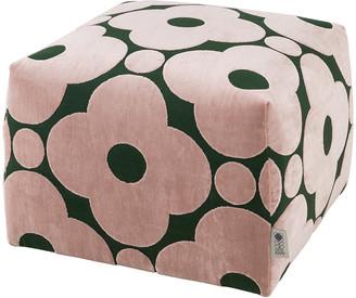 Orla Kiely Longford Pouf - Poppy Spot Jade - Small
