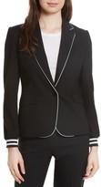 Helene Berman Women's Piped Jersey Blazer