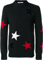 Givenchy Stars Printed Wool Crewneck Sweater