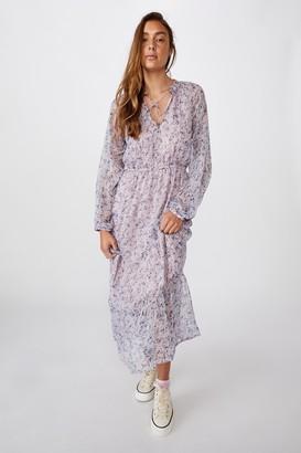 Cotton On Woven Michelle Long Sleeve Maxi Dress