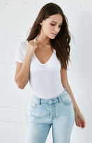 Me To We Ribbed Plunge Neck T-Shirt