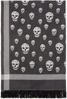 Alexander McQueen Black & Off-White Skull Blanket Scarf