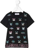 Versace stud appliqué T-shirt