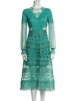 Thumbnail for your product : Three floor Lace Pattern Midi Length Dress w/ Tags Green