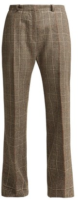 Pallas X Claire Thomson-jonville - Delaunay Prince Of Wales-check Trousers - Womens - Grey Multi
