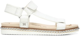 Sam Edelman Annalise Embellished Croc-Embossed Leather Sport Sandals