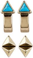 House Of Harlow Telluride Hoop & Stud Earrings Set
