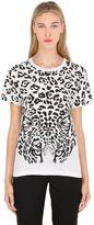 Saint Laurent Feline Printed Cotton Jersey T-Shirt