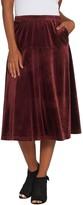 Bob Mackie Pull-On Velvet Flare Skirt
