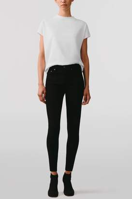 A Gold E Agolde Sophie Mid Rise Skinny Jean