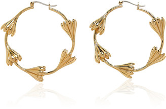 Pamela Love Multi Anemone 14K Gold-Plated Hoops