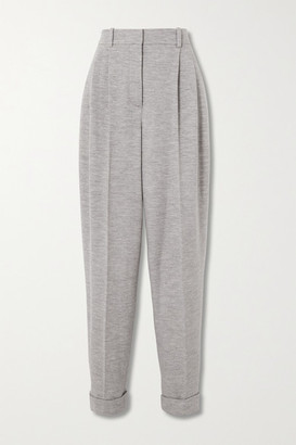 Roksanda Venezio Wool-jersey Tapered Pants - Gray