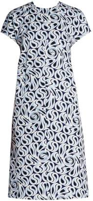 Marni Printed Stretch Shift Dress