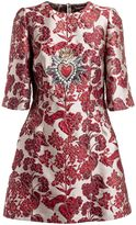 Dolce & Gabbana Floral Embroidered Mini Dress