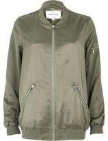 River Island Womens Light green satin longline bomber jacket