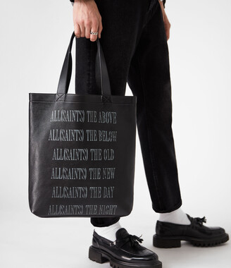 AllSaints Stamp Leather Tote Bag