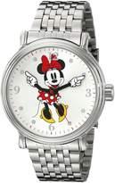 Disney Men's W001881 Minnie Mouse Analog Display Analog Quartz Silver Watch