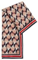 HUGO BOSS Printed foulard scarf in Habutai silk