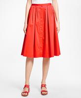 Brooks Brothers Flared Cotton Sateen Skirt