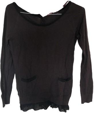 Comptoir des Cotonniers Burgundy Wool Top for Women