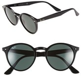 Ray-Ban Women's 'Highstreet' 49Mm Sunglasses - Black