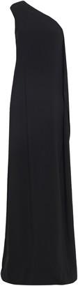 Stella McCartney One-shoulder Bead-embellished Draped Crepe Gown