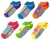 Jefferies Socks Sporty Half Cushion Low Cut 6-Pack Girls Shoes