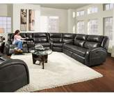 Maverick Reversible Reclining Sectional Southern Motion Body Fabric: Graphite
