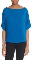 Milly Women's Stretch Silk Bateau Tee