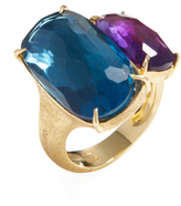 Marco Bicego 18K Yellow Gold, Amethyst & Blue Topaz Murano Ring