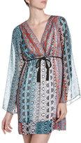Single Drape-Sleeve V-Neck Dress
