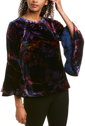 Trina Turk Astral Silk-Blend Top