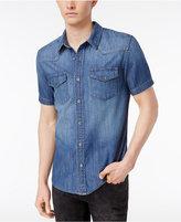 GUESS Men's Western Denim Cotton Shirt