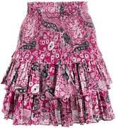Etoile Isabel Marant High Waisted Ruffled Mini Skirt