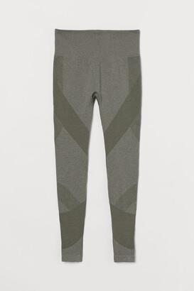 H&M Seamless Leggings High Waist - Green
