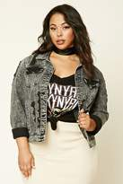 Forever 21 FOREVER 21+ Plus Size Denim Jacket